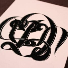 Custom Monogram: Danielle + Niko