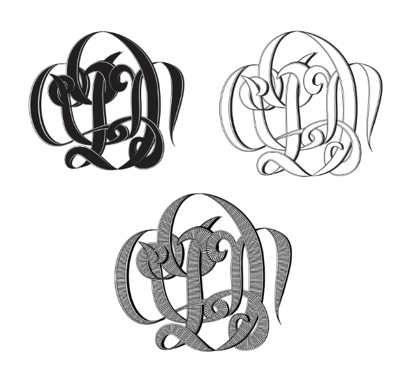 monograms custom in three fills x600