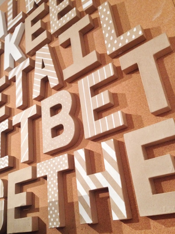 everyday letters: taking shape at moo // union jack creative