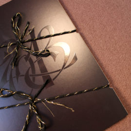 Custom Monogram Holiday Cards and New Year's Invitations