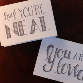 Hand-Lettered Note Cards