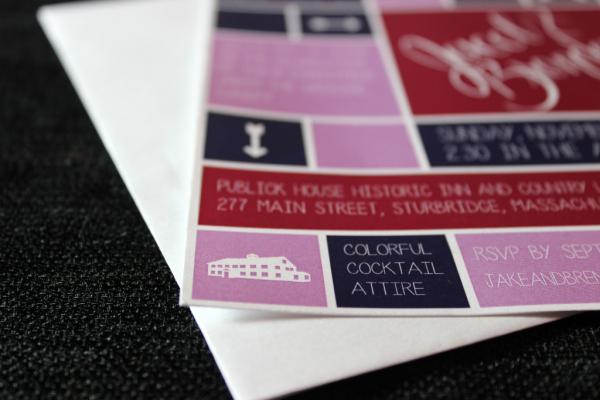 custom wedding invitations: brenda + jake // union jack creative