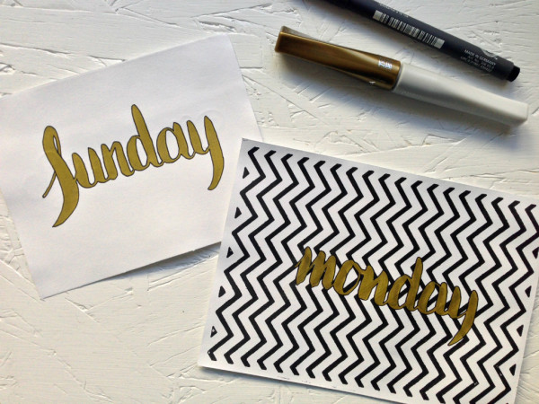 everyday letters: practice makes perfect, pens and hand-lettered monday // union jack creative